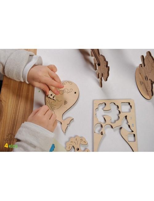 Ballena – maqueta de madera...