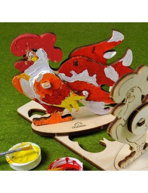 Gallo – maqueta de madera...