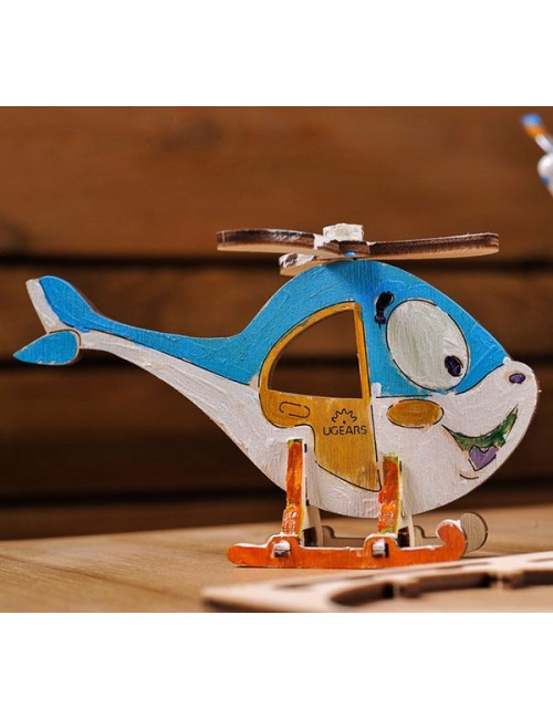 3D coloring model «Helicopter»