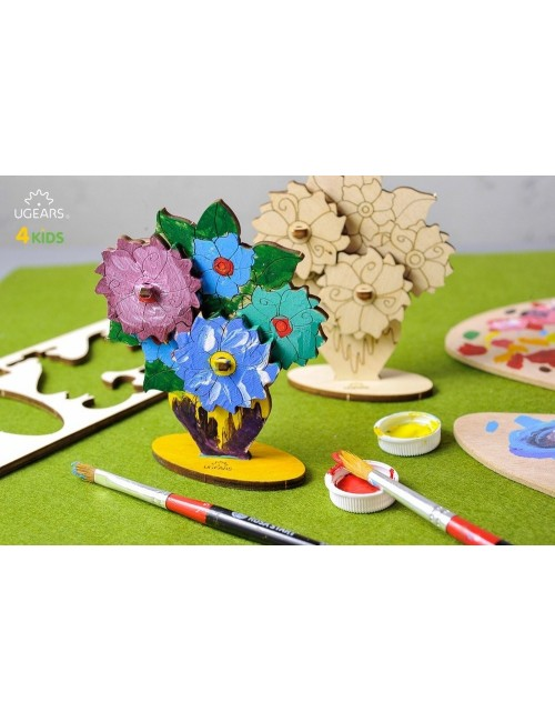 3D coloring model «Bouquet»