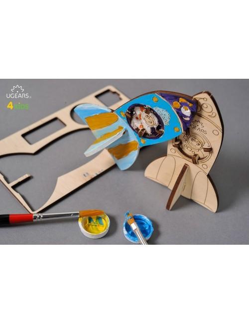 3D coloring model «Rocket»