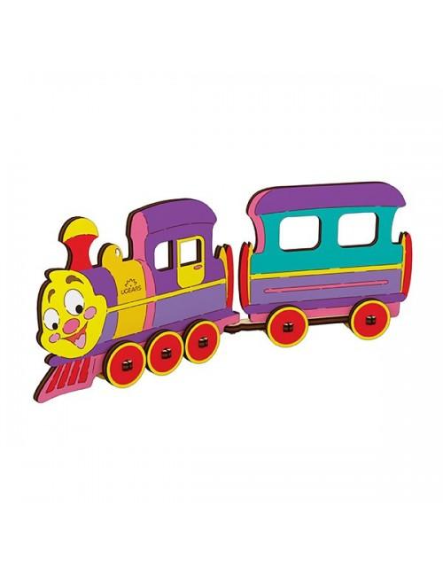 3D coloring model «Locomotive»