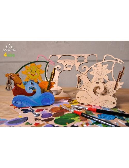 3D coloring model «Sailboat»