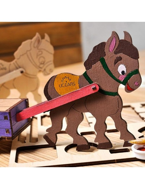 3D coloring model «Donkey»
