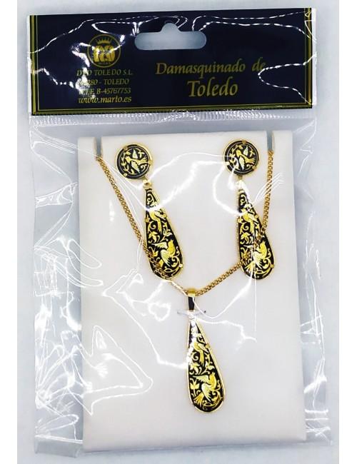 MEDALION and EARRINGS SET...