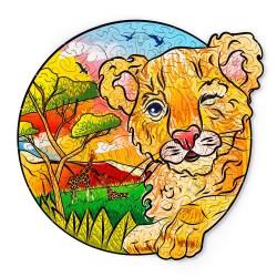 León – puzzle de animales...
