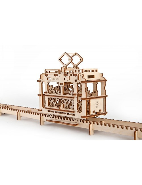 Model Tram with rails