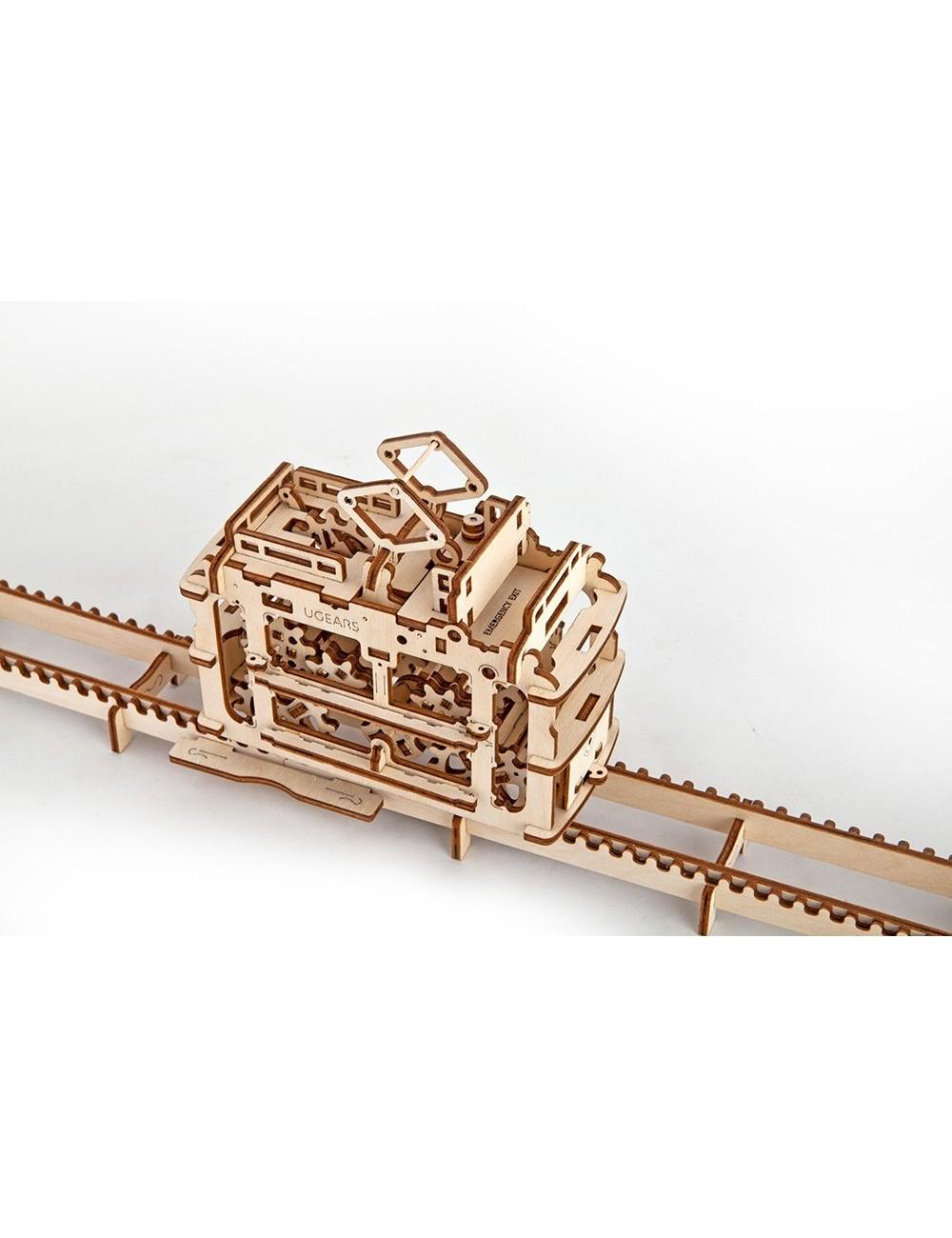 Model Tram with rails