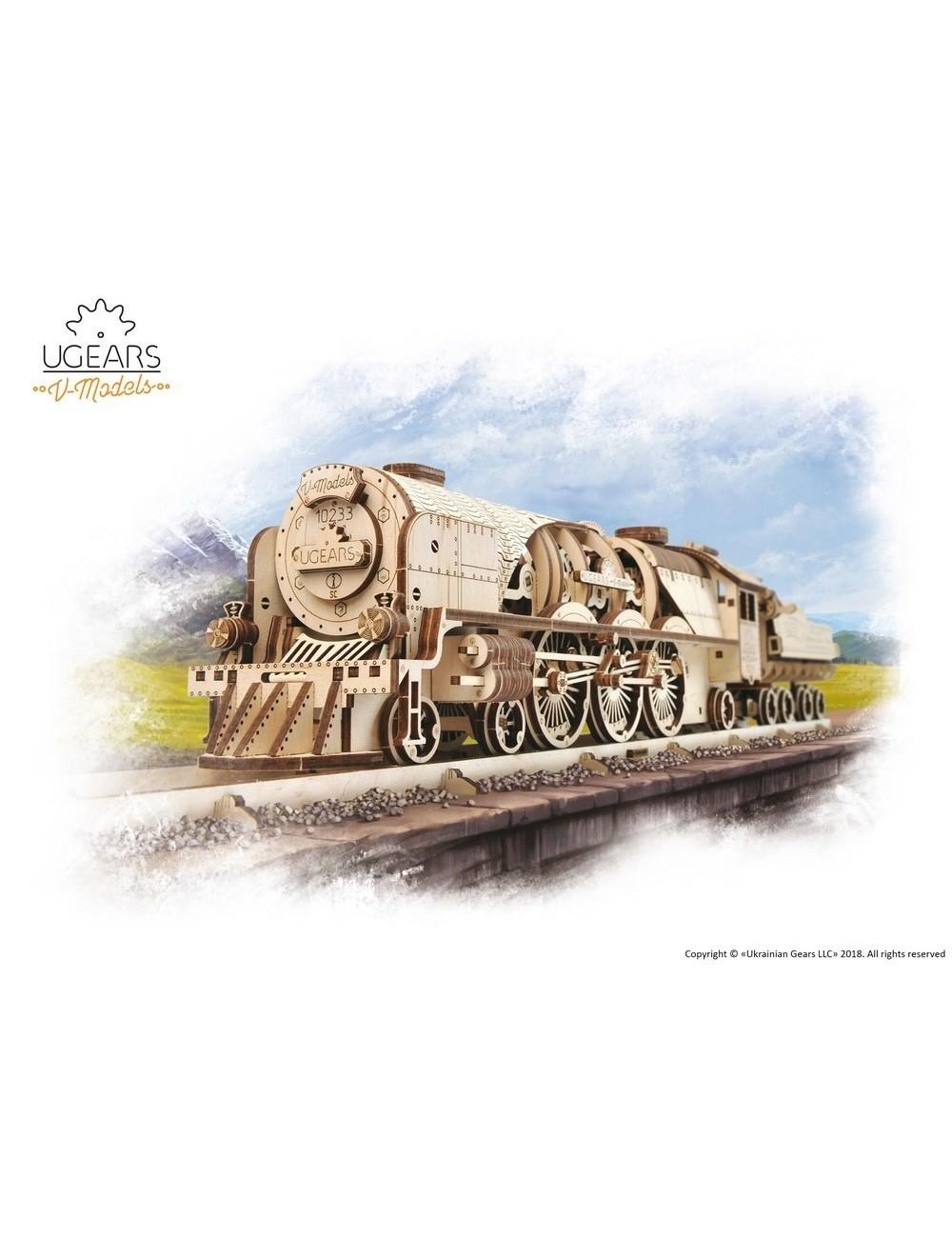 Locomotora de vapor V-Express (V-Express Steam Train with Tender)