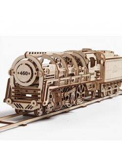 Locomotora con ténder (Steam Locomotive with Tender)